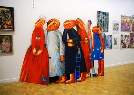 Художник  Наташа Шалина выставка в ЦДХ