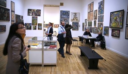 На выставке Леонида Николаевича Рабичева в ЦДХ