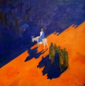 Записки о художниках. Никита Кулинич Вход во Иерусалим, х.м, 2008 г.