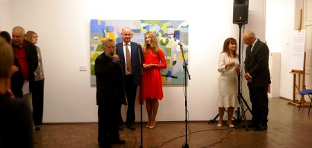 Открытие выставки Художника Джонатана Люка в Выставочных Залах РАХ (Пречистенка, 19)
