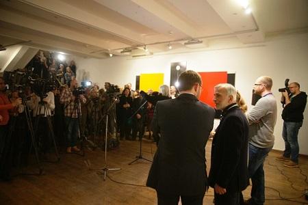 ММСИ Художник Омар Чхаидзе на Открытии своей выставки «Трансформация света»