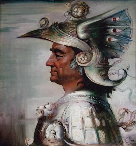 Геннадий Животов Портрет  Александра Проханова